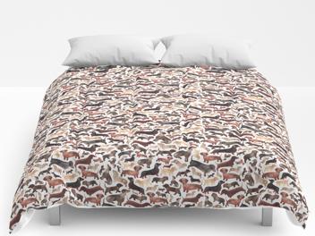 Dachshund comforter by Elena O'Neill