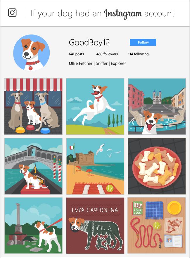 instagram dogs, instagram